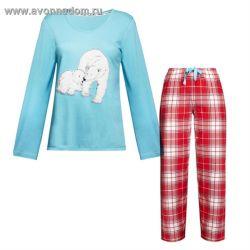a7cac1c6300f Женская пижама с медведицей и медвежонком эйвон