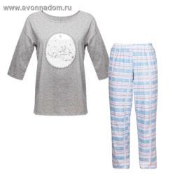 85ca9970c4be Женская пижама серая эйвон